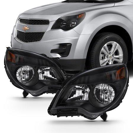 Fit Black 2010-15 Chevy Equinox L/LS/LT/LTZ Headlights Halogen Model (Chevrolet Equinox Replacement Headlight)