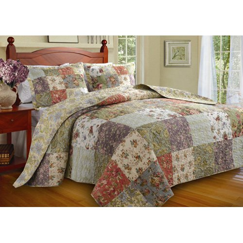 Greenland Home Fashions Blooming Prairie - 2 Piece Bedspread Set