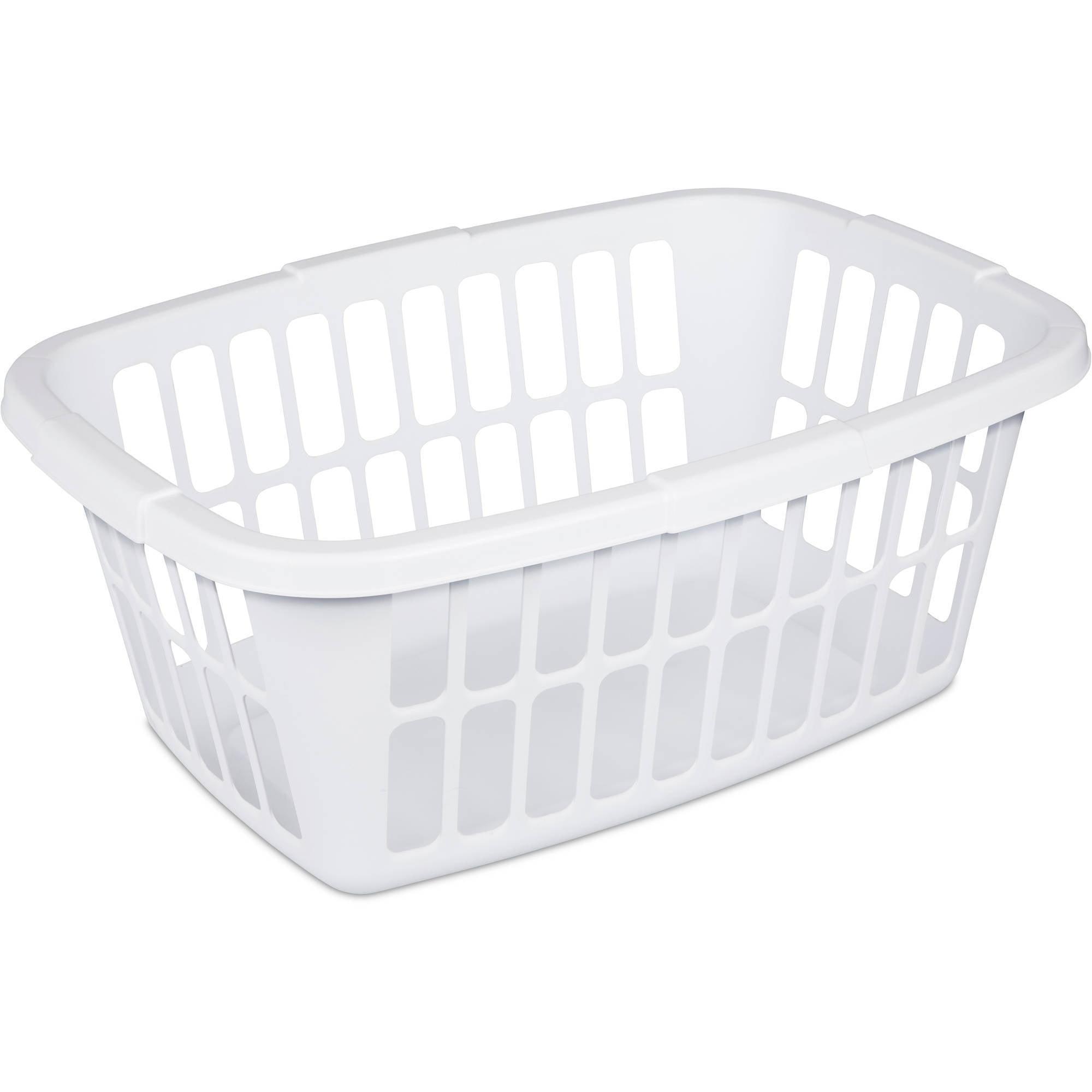 Mainstays 1.5 Bushel Laundry Basket- White, (Available in Case of 12 or Single Unit)