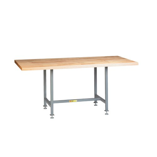 Little Giant USA 72''W Adjustable Height Butcher Block Top Workbench by Little Giant USA