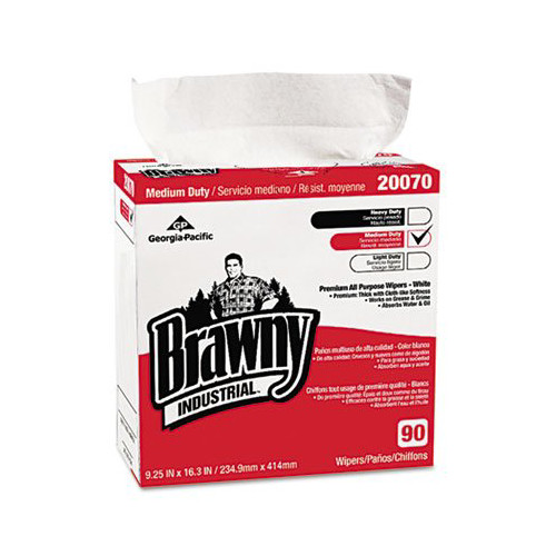 Brawny Industrial Medium-Duty Premium Wipes, 90 count