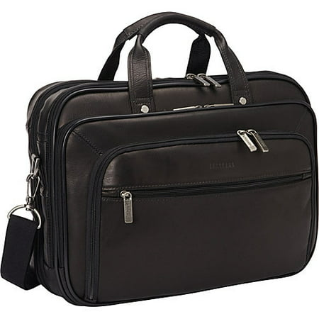 Colombian Leather Checkpoint-Friendly - Top Zip Underarm Leather Briefcase