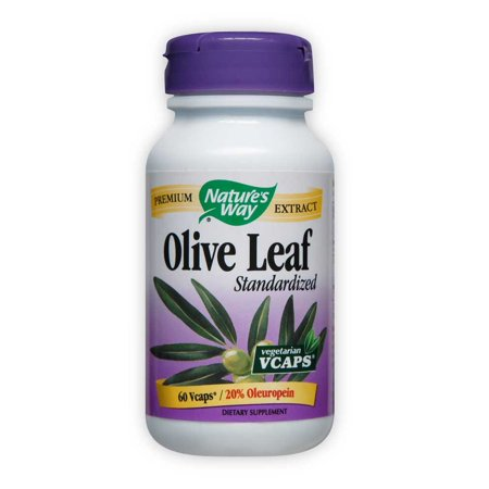 Natures Way Standardized Olive Leaf Premium Extract 20% Oleuropein 60 Ct (Chamomile Standardized Extract)