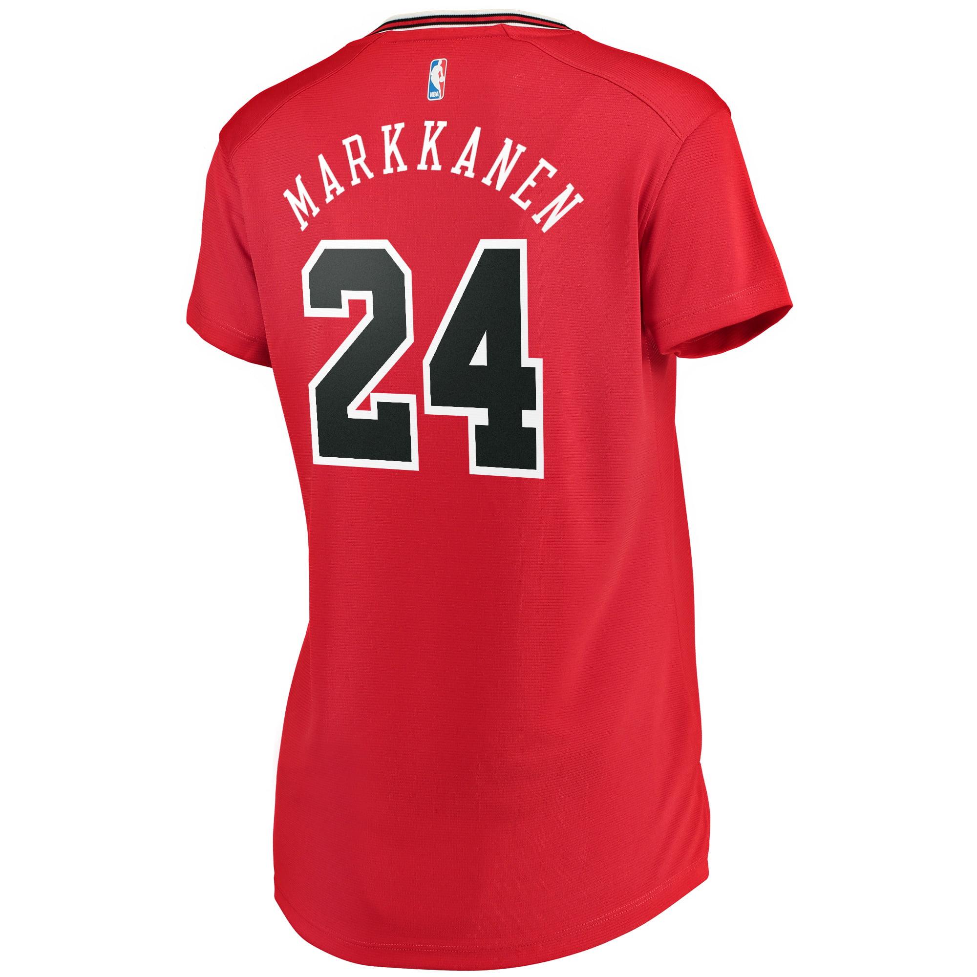 the latest abb2c 39b41 Lauri Markkanen Chicago Bulls Fanatics Branded Women's Fast Break Iconic  Edition Jersey - Red