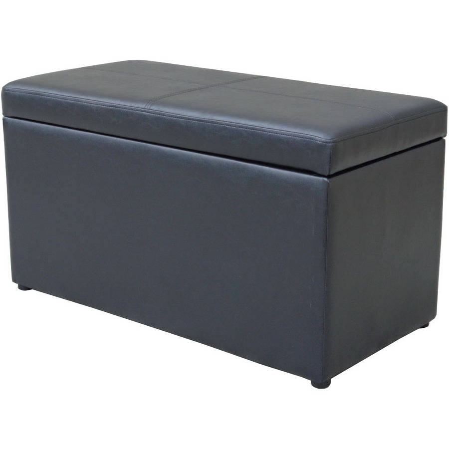 Ottoman leather hinged storage container coffee table foot rest sofa bench 30 ebay 30 bench