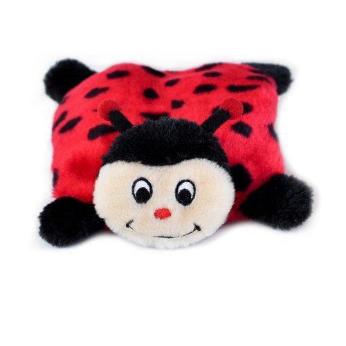 ZippyPaws Squeakie Pad No Stuffing Plush Dog Toy, Ladybug