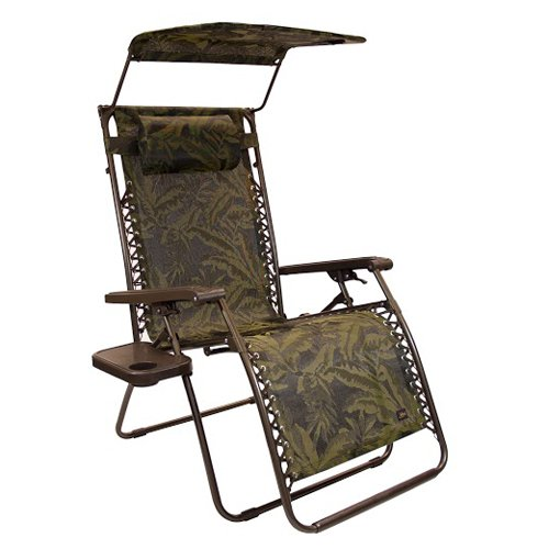 Bliss Hammocks XL Gravity Free Recliner Zero Gravity Lounge Chair With  Sunshade Canopy Adjustable Pillow And