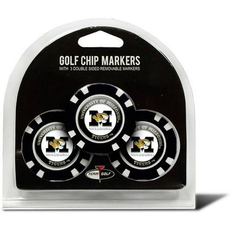 Team Golf NCAA Missouri 3 Pack Golf Chip Ball Markers