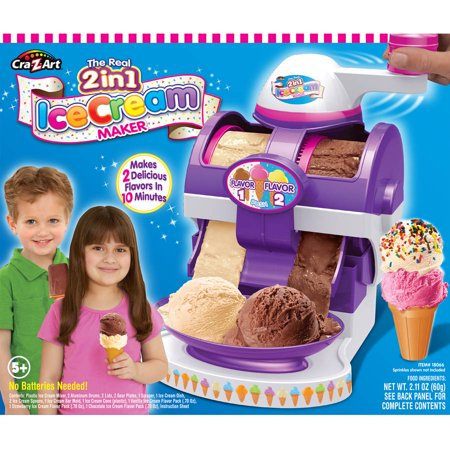 Cra Z Art Plastic The Real 2in1 Ice Cream Maker
