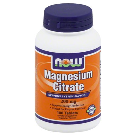 Now Foods Now  Magnesium Citrate, 100 ea (Green Foods Magnesium Vitamins)