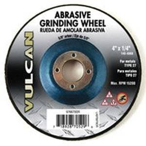 Vulcan Type 27, Depressed Center Abrasive Cutoff Wheel, 4 In Dia, 5/8 In, 15200 Rpm, Silicon - Dia Cut Center