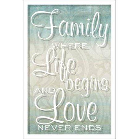 Artissimo Designs Family Live Love Framed Glass Wall Art - Walmart.com