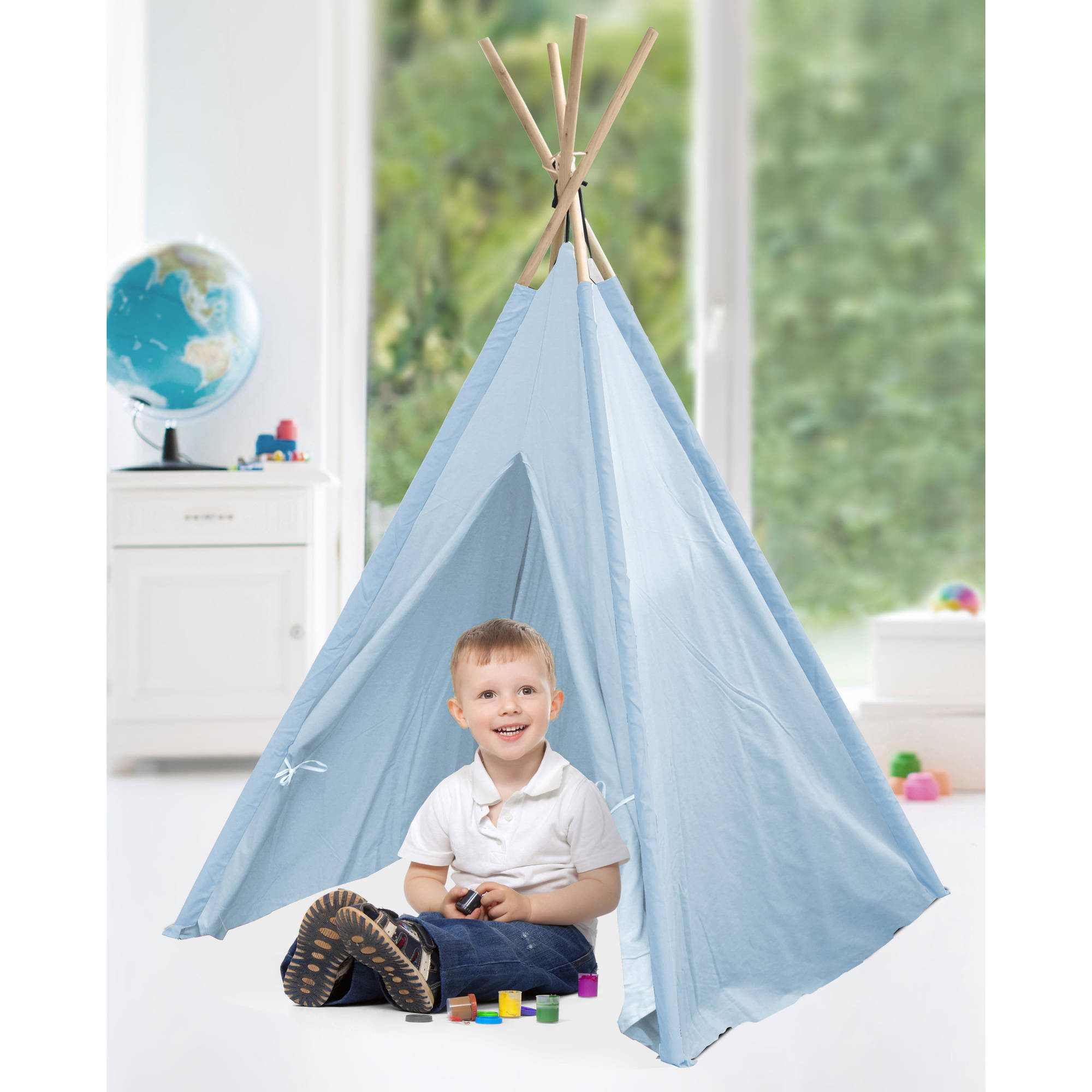 American Kids Awesome Tee-Pee Tent, Light Blue by Idea Nuova