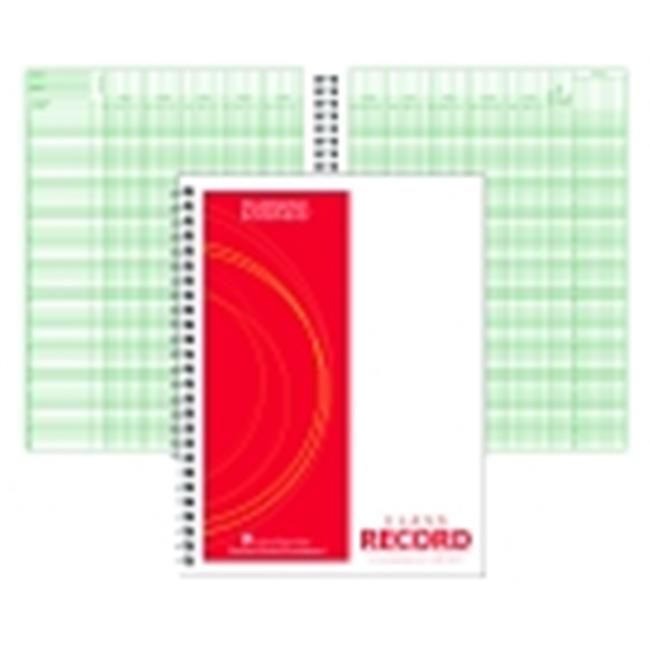 Hammond And Stephens 8.5 x 11 in. Class Record Book, Polyice Cover, 50 Students, White And Green by Hammond & Stephens