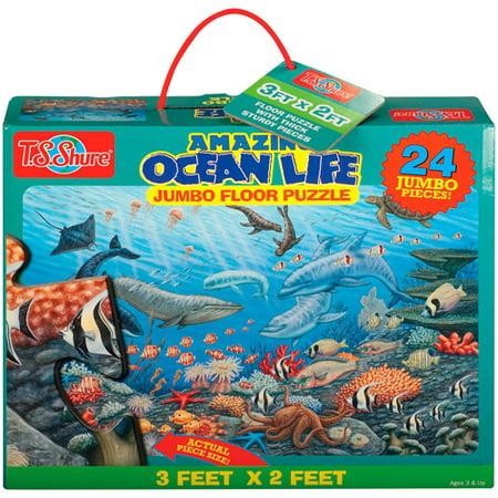 T.S. Shure Jumbo Puzzle-Amazing OceanLife