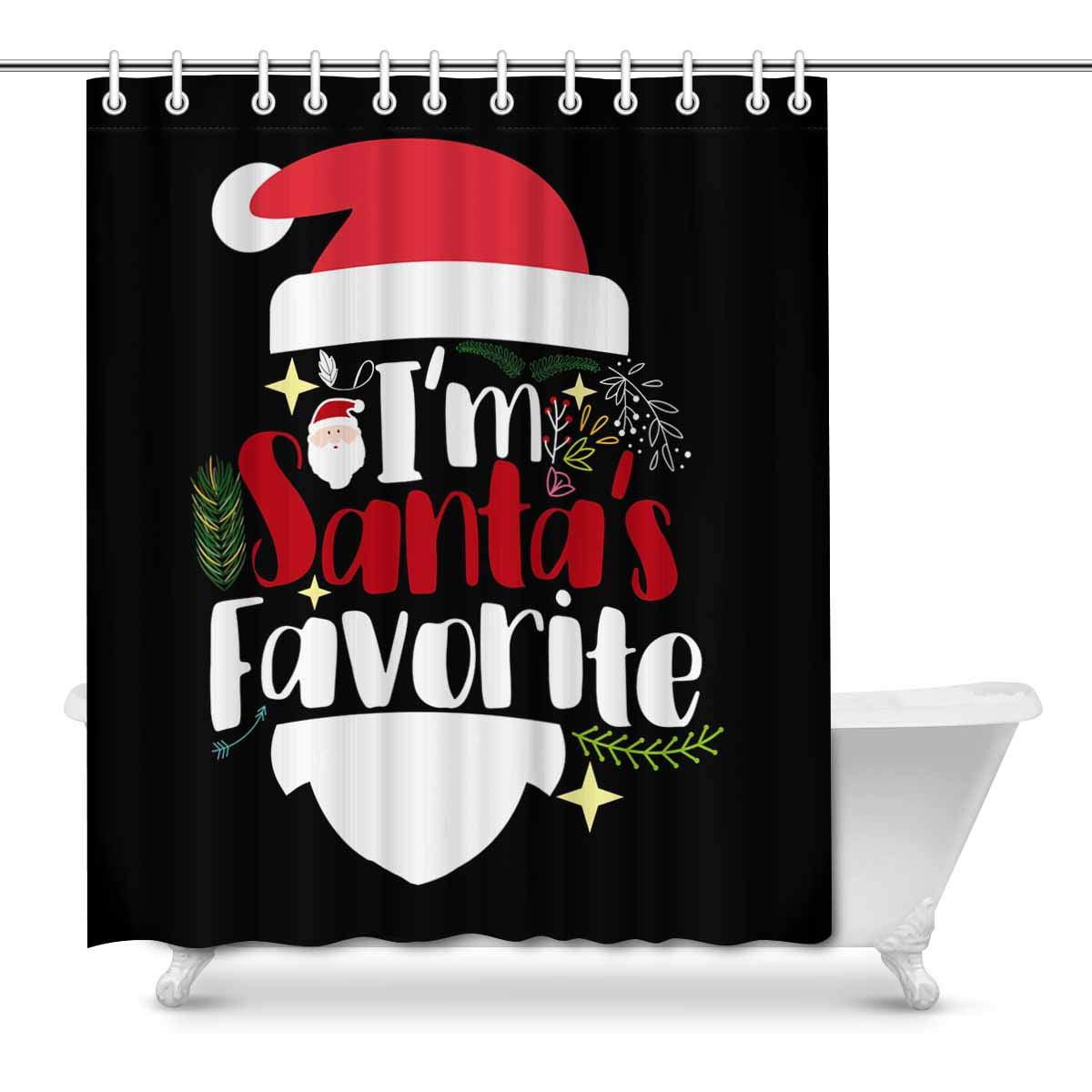 Favourite Bathroom Home Decor: MKHERT Funny Christmas Saying I'm Santas's Favorite Home