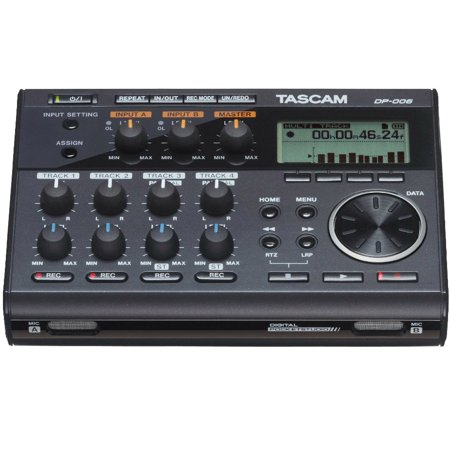 Tascam Compact Portastudio 6 Track Digital Recorder with Built In Microphone