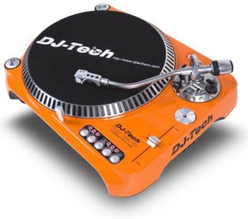 Dj-tech Sl1300 Mk6usb Record Turntable Direct Drive 33.33, 45, 78 Rpm Orange (sl1300mk6usb-ora_6) by Dj Tech