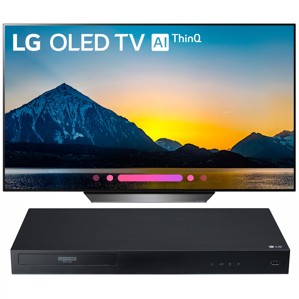 "LG 65"" Class B8 OLED 4K HDR AI Smart TV 2018 Model (OLED65B8PUA) with LG Streaming 4k Ultra-HD Blu-Ray Player with Dolby Vision"