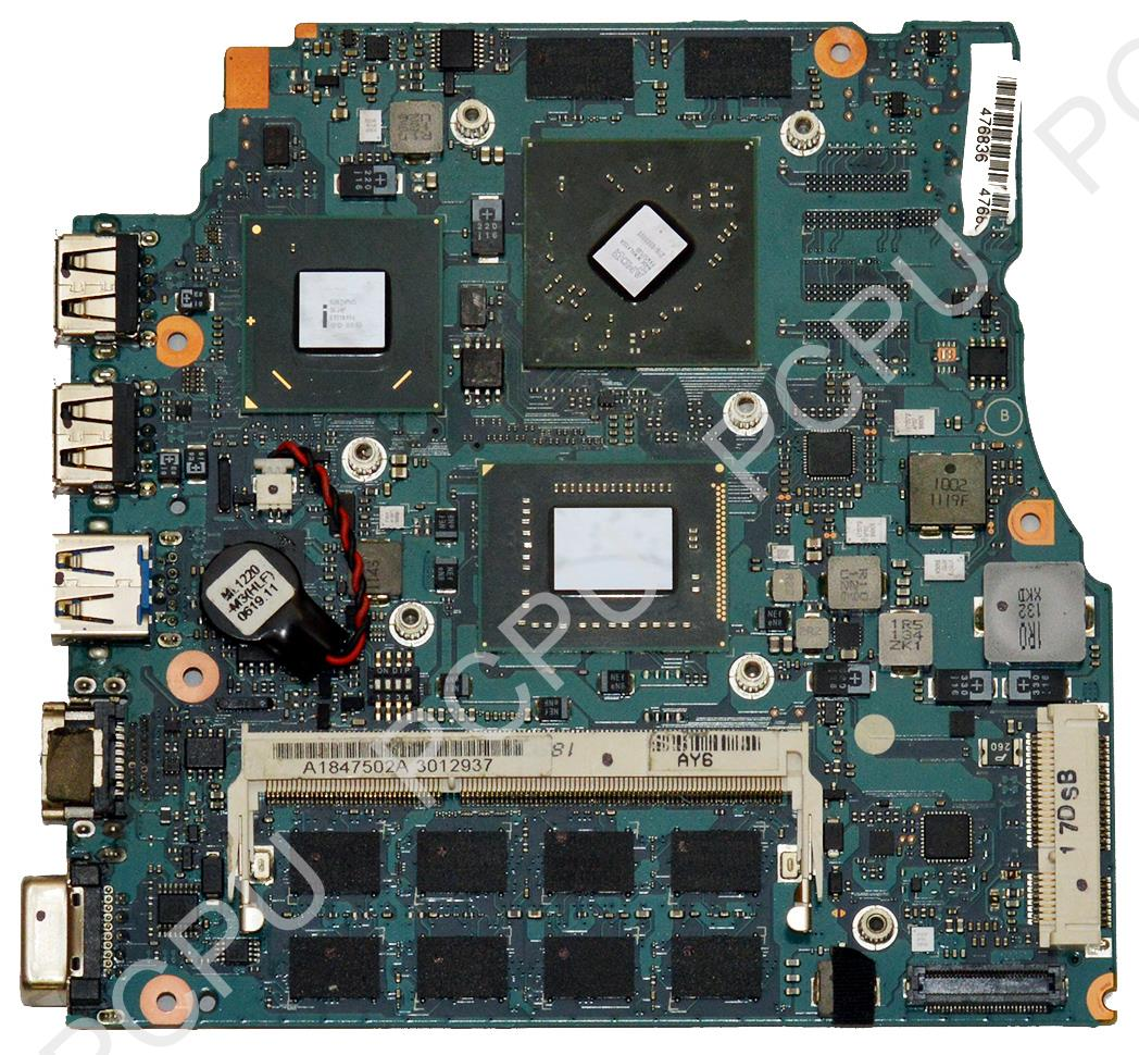 A1847502A Sony VPC-SC Laptop Motherboard w/ i5-2430M 2.4GHz CPU,
