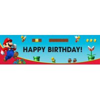 "Super Mario Bros. 18"" x 61"" Birthday Banner"