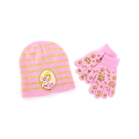 Disney Princess Sleeping Beauty Aurora Youth Hat and Gloves Set -