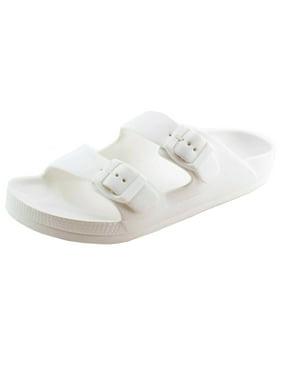 Women's Lightweight Comfort Soft Slides EVA Adjustable Double Buckle Flat Sandals (FREE SHIPPING)
