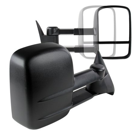 Spec-D Tuning For 1988-1998 Chevy Chevrolet C/K 1500/2500/3500 Manual Towing Tow Hauling Side Mirrors (Left+Right) 1988 1989 1990 1991 1992 1993 1994 1995 1996 1997 1998 Manual Extending Tow Mirrors