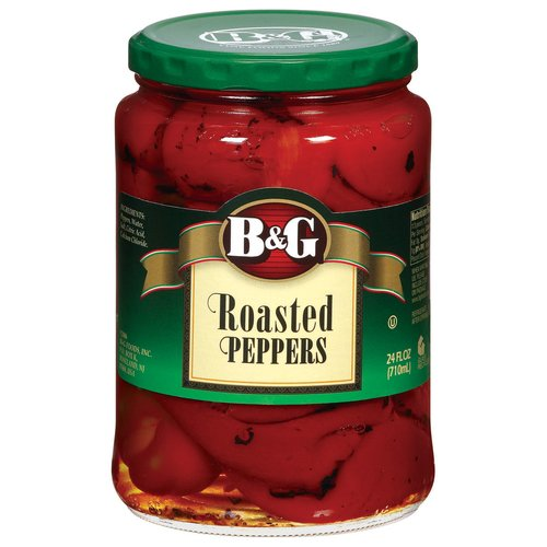 B&G Roasted Peppers, 24 fl oz