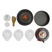 AOZBZ Cooking Set Convenient Camping Hiking Cooking Set Portable Multifunctional Camping Cookware Space-saving Camping Cookware Kit for Hiking