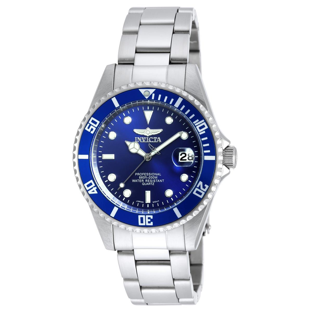 invicta 9204ob s pro diver blue steel bracelet