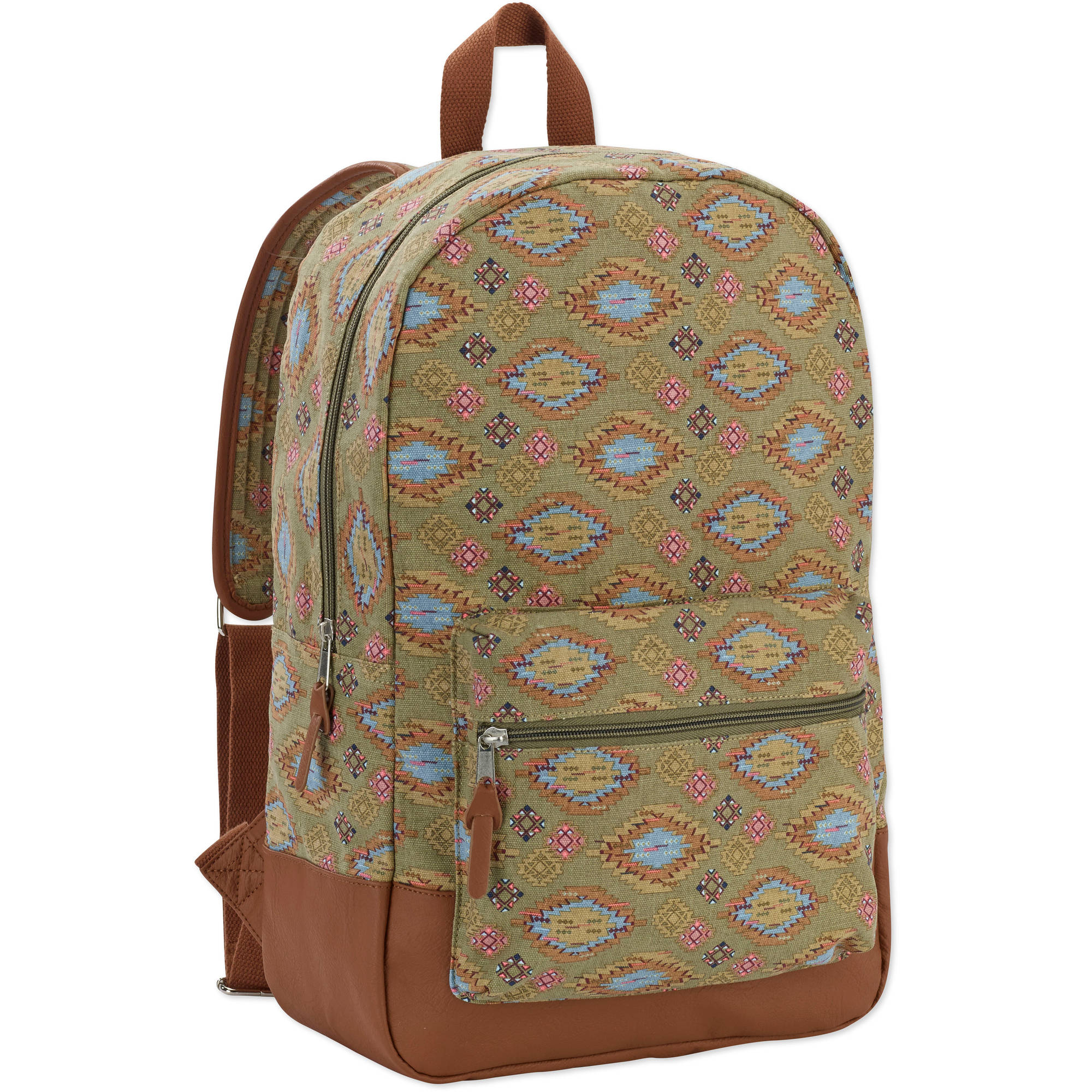 "No Boundaries 18"" Printed Canvas  Dome Backpack"
