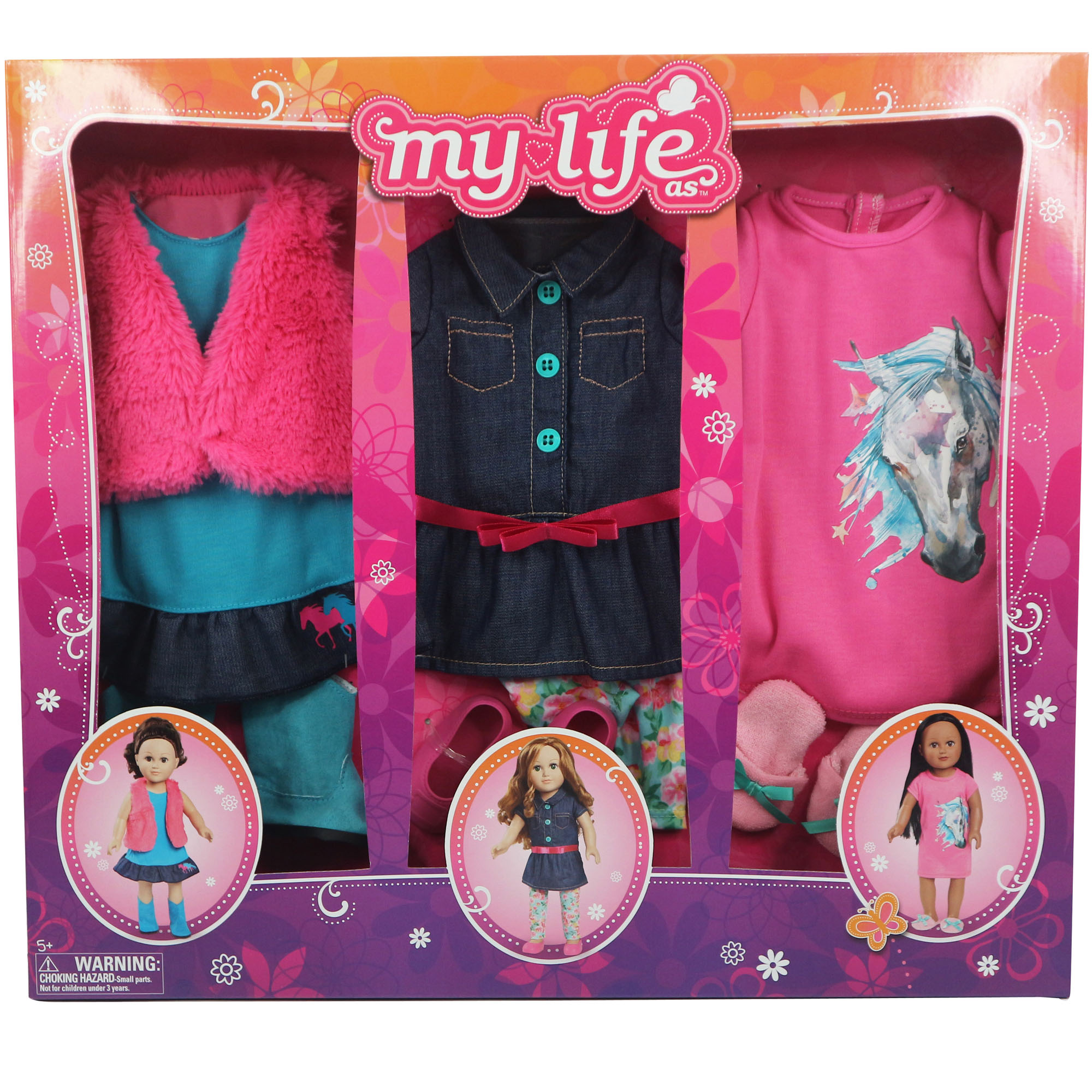 My Life As - Day in the Life Clothing Set for 18in Doll - Cowgirl