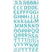 Glitter Bling Alphabet Stickers-Blue
