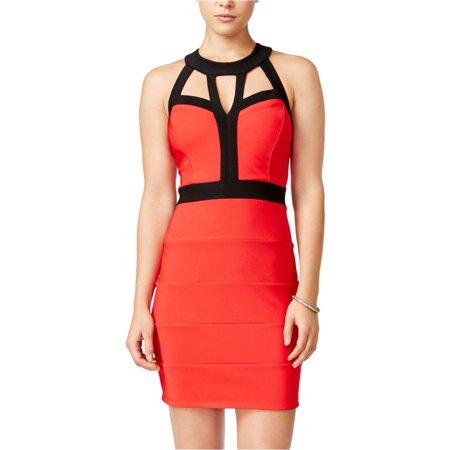 Crystal Doll Womens Cutout A-line Dress redblk 5 - (Crystal Doll Juniors Cutout A Line Dress)