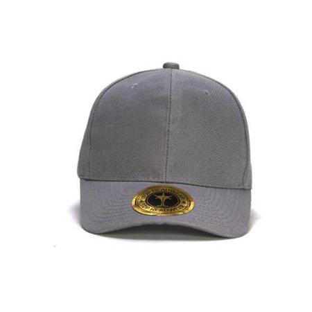 TopHeadwear Hook & Loop Adjustable Cap - Light Grey