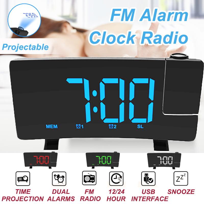 Projection Loud Dual Alarm Clocks, Digital Projection Alarm Clock Manual