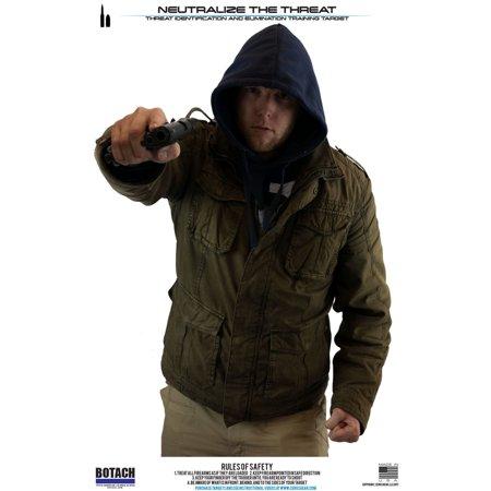 Bad Guy Target (Botach Shooting Targets 3/Pack, Bad Guy Silhouette Trainer )