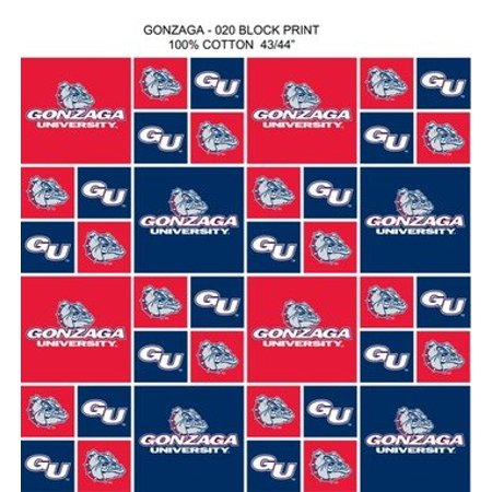 - Gonzaga University Fabric Fine Cotton Classic Geometric Design-Sold by the Yard