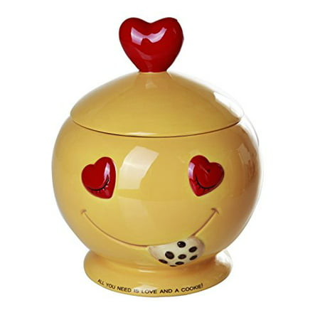 All You Need is Love and Cookies Ceramic Cookie Jar 8 Inch Tall ()