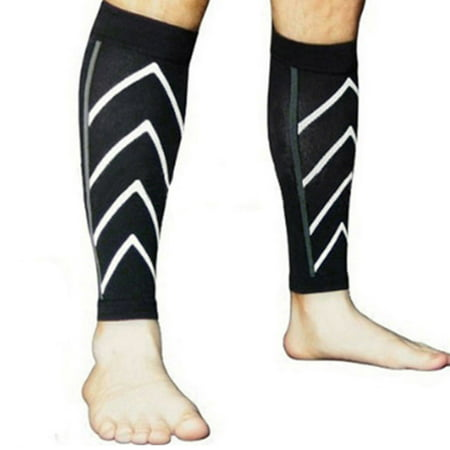 9602a3e4ad New Instant Shin Splint Support Pain Relief Calf Compression Sleeve for Men  & Women -Black - Walmart.com