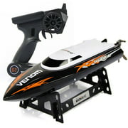 Udirc 2.4GHz High Speed Remote Control Electric Boat (Black)
