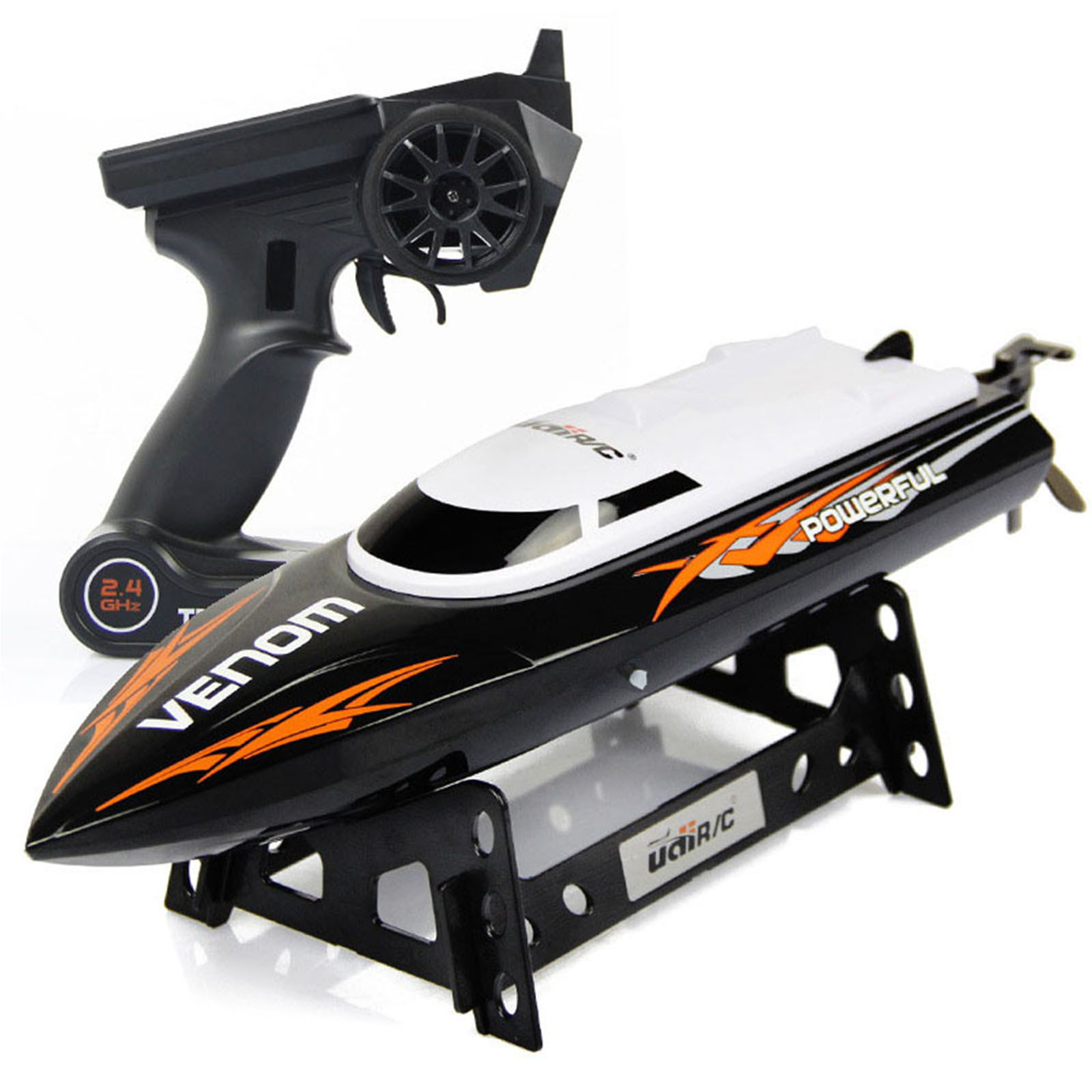 Udirc 2.4GHz High Speed Remote Control Electric Boat (Black)