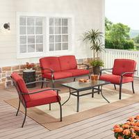 Mainstays Belden Park 4-Piece Outdoor Patio Conversation Set (3 colors options)
