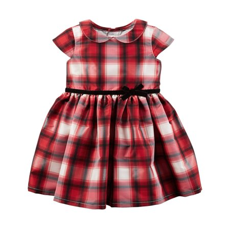 Carters Baby Clothing Outfit Girls Plaid Tafetta Dress Red Walmart Gorgeous Baby Dress Display Stand