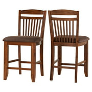 Weston Home Counter Height Chair , Set of 2, Warm Oak