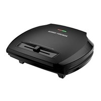 George Foreman 5-Serving Classic Plate Grill and Panini Press, Black, GR350VB