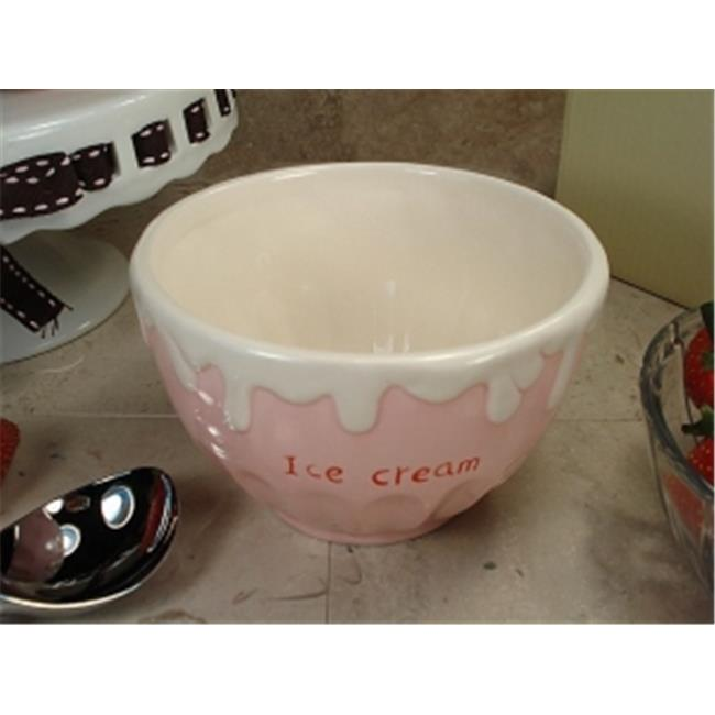 DLusso Designs CC785-P Ceramic Ice CReam Bowl Pink, Pack Of - 4.