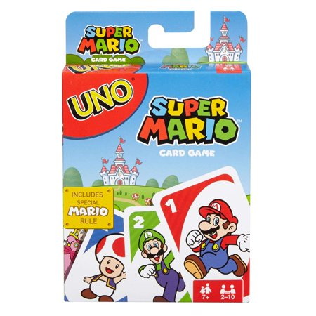 UNO Card Game Super Mario Theme for 2-10 Players Ages 7Y+ (Hollywood Theme Games)