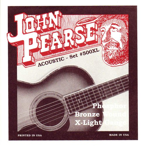 John Pearse P500XL Bronze Acoustic Guitar Strings, Extra Light by John Pearse Strings